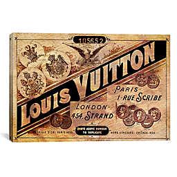 Vintage Louis Vuitton Advertisement 60-Inch x 40-Inch Canvas Wall Art