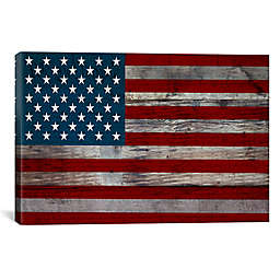 US Constitution American Flag 40-Inch x 26-Inch Canvas Wall Art