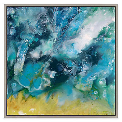 """Moe's Home Collection """"Galaxy"""" 40-Inch x 40-Inch Framed Canvas Wall Art"""