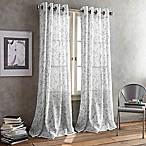 DKNY Promenade Grommet 95-Inch Window Curtain Panel in Pewter