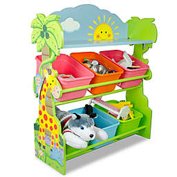 Teamson Fantasy Fields Sunny Safari 6-Bin Toy Organizer