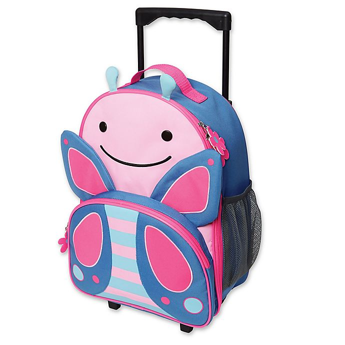 Alternate image 1 for SKIP*HOP® Zoo Little Kid Rolling Luggage in Butterfly