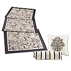Madison Park Aubrey Bed Runner and Throw Pillow Set in Black