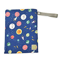 Itzy Ritzy® Travel Happens™ Medium Sealed Wet Bag in Blue Interstellar