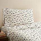 Hidden Retreat 300-Thread-Count Lodge Bear Queen Sheet Set in Chocolate