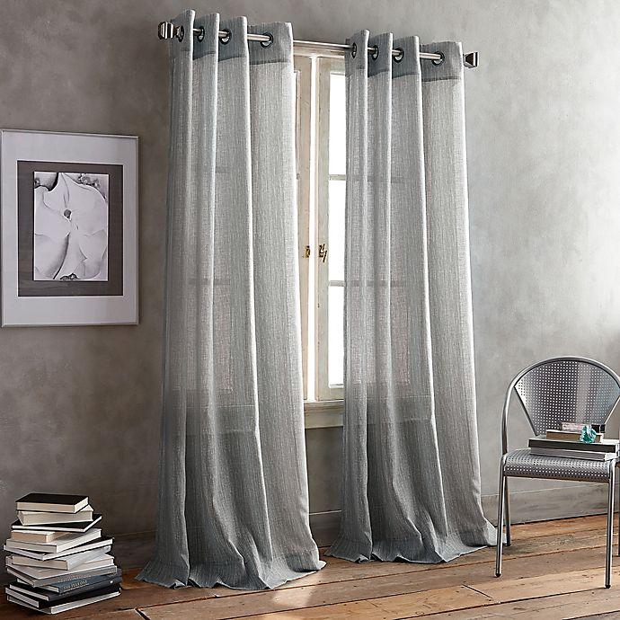 Alternate image 1 for DKNY Parkside Grommet Window Curtain Panel