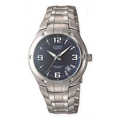 Casio Edifice Men's 41mm Blue Dial Dress Watch in Stainless Steel