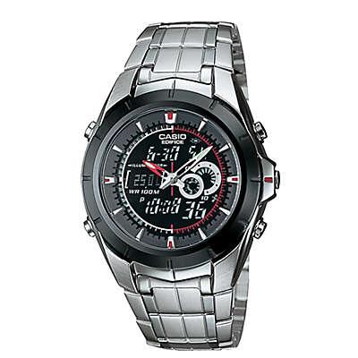 Casio Edifice Men's 38mm Analog/Digital Bracelet Watch in Stainless Steel