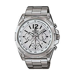 Casio Edifice Men's 44mm Tough Solar Chronograph Watch in Stainless Steel