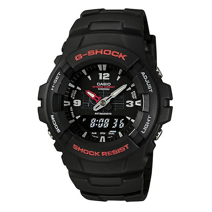 d5f3df23d Casio G-SHOCK Men's 50mm Classic Analog/Digital Watch in Black Stainless  Steel with Black Strap