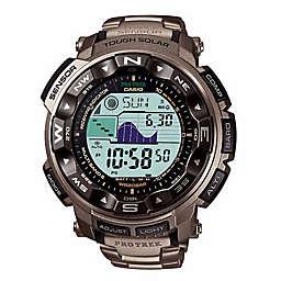 Casio Men's 55mm ProTrek Solar Sport Watch in Grey Resin with Titanium Band