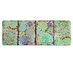 Bacova 20-Inch x 55-Inch Succulent & Moss Memory Foam Kitchen Mat in Blue/Purple