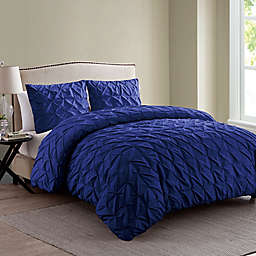 VCNY Madalyn 2-Piece Twin XL Duvet Cover Set in Navy