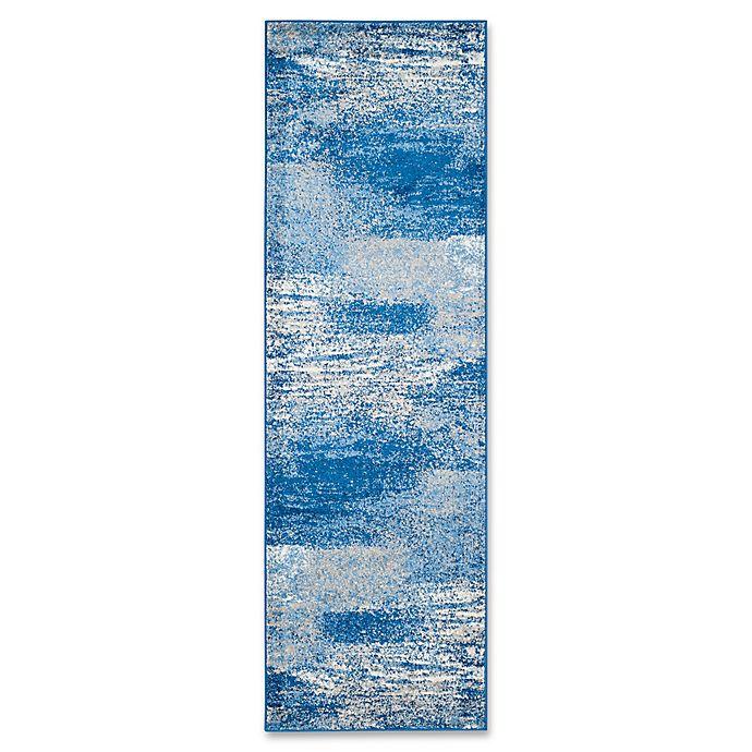 Alternate image 1 for Safavieh Adirondack 2-Foot 6-Inch x 16-Foot Runner in Blue