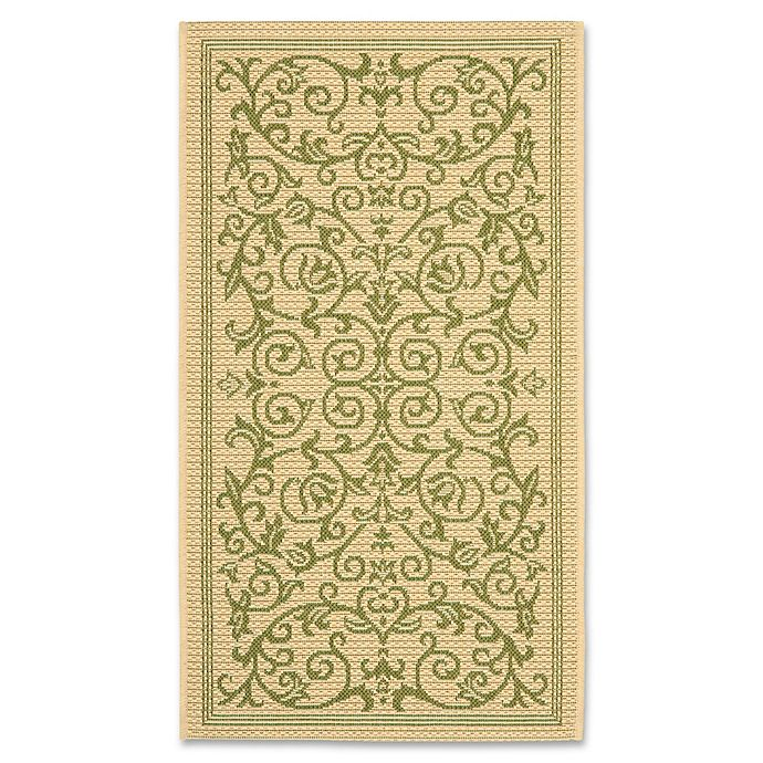 Alternate image 1 for Safavieh Courtyard 2-Foot x 3-Foot 7-Inch Indoor/Outdoor Accent Rug in Natural/Olive