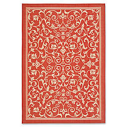 Safavieh Courtyard 8-Foot x 11-Foot Indoor/Outdoor Area Rug in Red