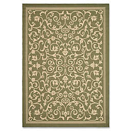 Safavieh Courtyard 8-Foot 11-Inch x 12-Foot Indoor/Outdoor Area Rug in Olive