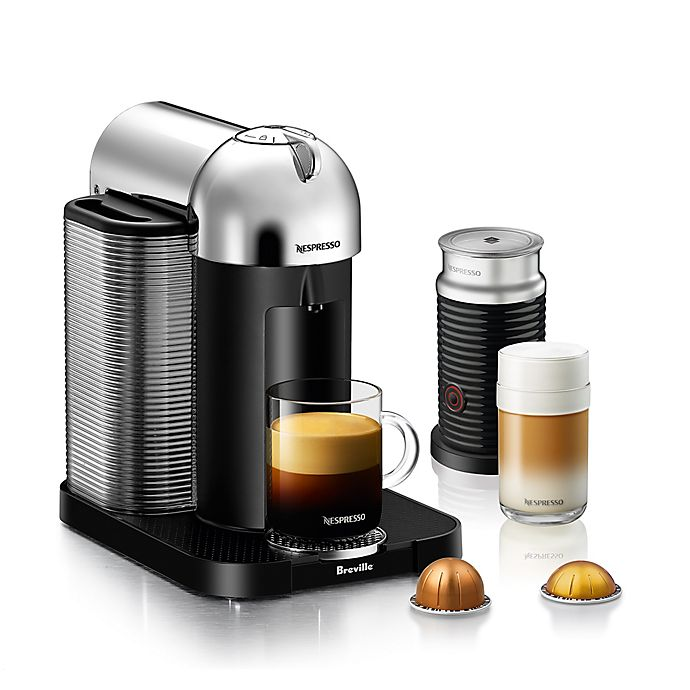 Alternate image 1 for Nespresso® by Breville® VertuoLine Coffee and Espresso Maker Bundle in Chrome