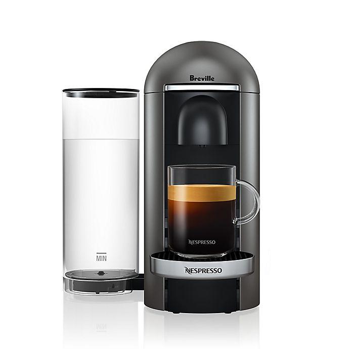 Alternate image 1 for Nespresso® by Breville® VertuoPlus Deluxe Coffee and Espresso Maker in Titanium