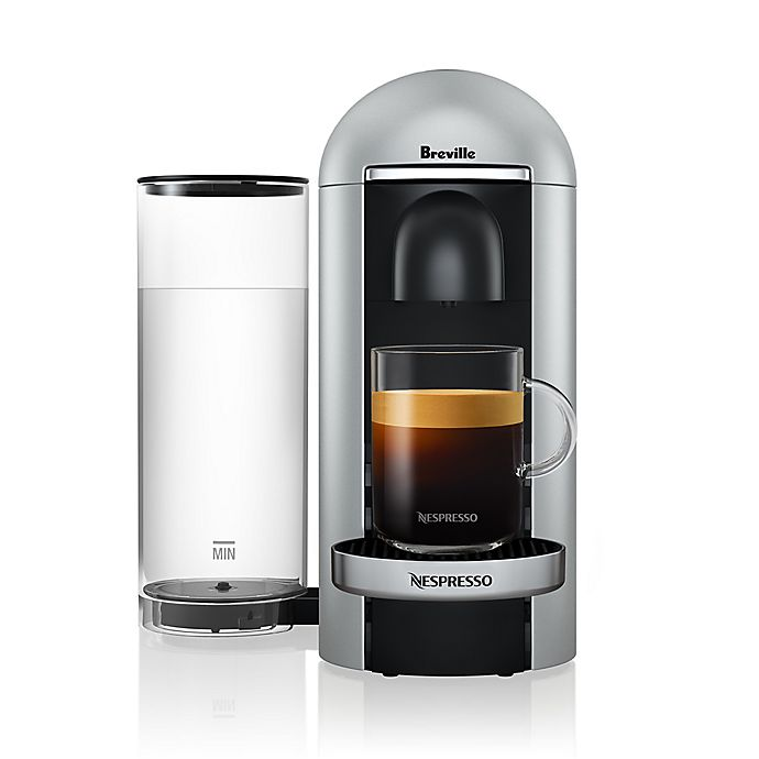 Alternate image 1 for Nespresso® by Breville® VertuoPlus Deluxe Coffee and Espresso Maker in Silver
