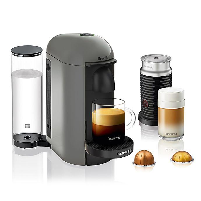 Alternate image 1 for Nespresso® by Breville® VertuoPlus Coffee and Espresso Maker Bundle with Aeroccino in Grey