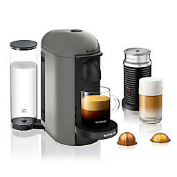 Nespresso® by Breville® VertuoPlus Coffee and Espresso Maker Bundle with Aeroccino