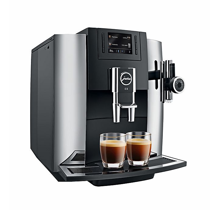 Jura® E8 Fully Automatic Coffee Machine in Chrome | Bed ...