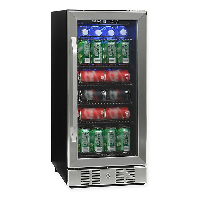 Alternate image 1 for NewAir® Beverage Refrigerator Built In 96 Can Cooler in Stainless Steel