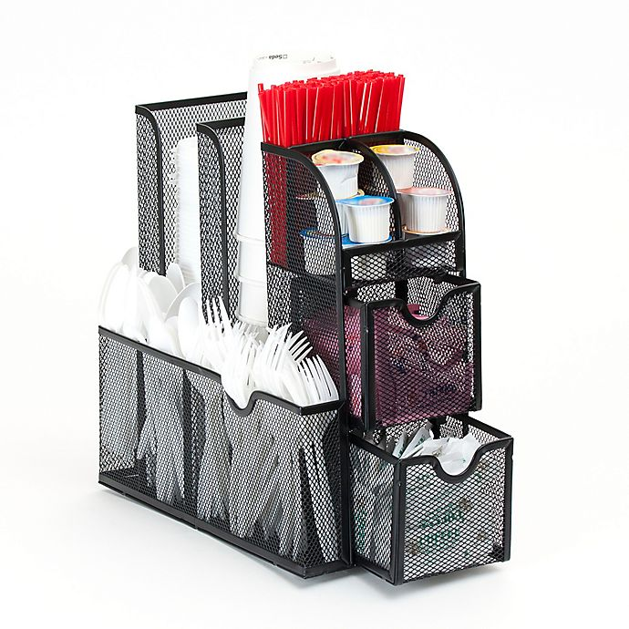 Mind Reader Coffee Condiment Organizer In Black View A Larger Version Of This Product Image