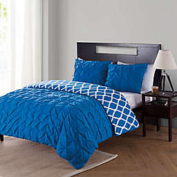VCNY Home Scottsdale 2-Piece Reversible Twin XL Duvet Cover Set in Navy