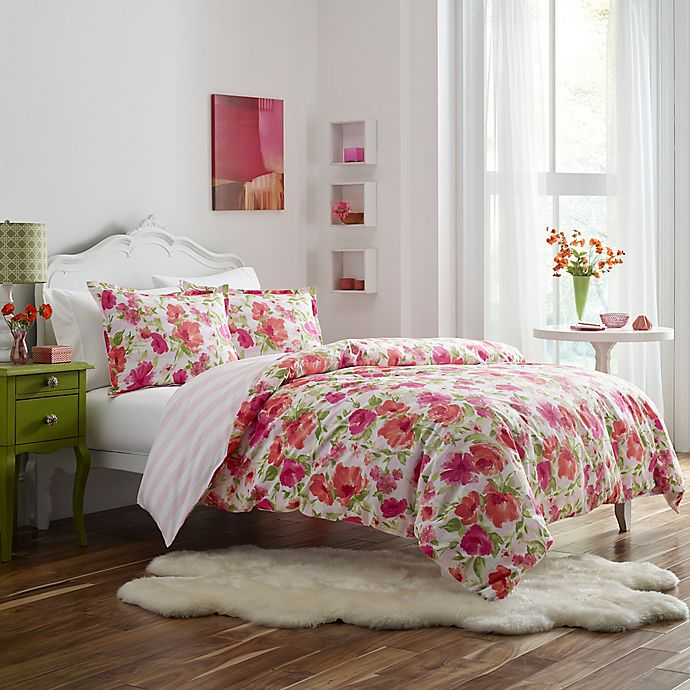 Alternate image 1 for Poppy & Fritz® Buffy Twin Comforter Set in Medium Pink