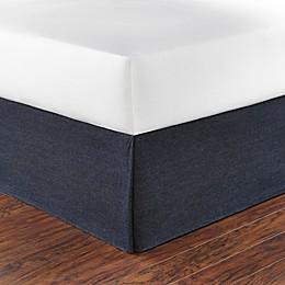Poppy & Fritz® Denim Bed Skirt in Navy