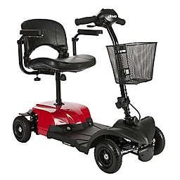 Drive Medical Bobcat X4 Rear Wheel Drive 4-Wheel Scooter with Stadium Seat in Red