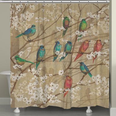 Laural HomeR Birds And Blossoms Shower Curtain