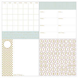 WallPops!® Dry-Erase 3-Piece Glamour Monogram Calendar/Planner/Notes Board Set