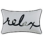 Coastal Living® Relax Oblong Throw Pillow in Navy/White