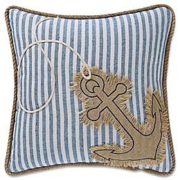 Coastal Living® Anchor Square Throw Pillow in Denim/White