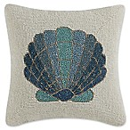 Coastal Living® Beaded Shell Square Throw Pillow in Teal/Ivory