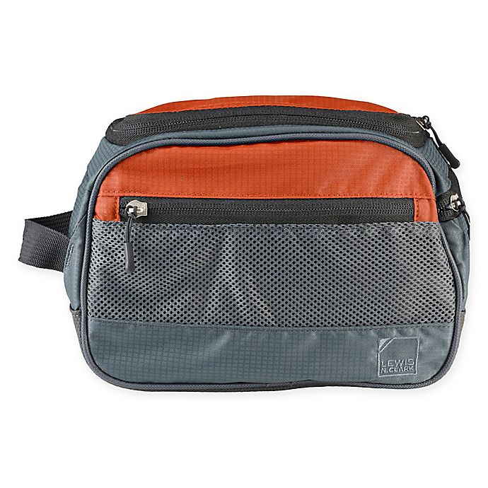 Alternate image 1 for Lewis N. Clark® Discovery Toiletry Kit in Rust Orange