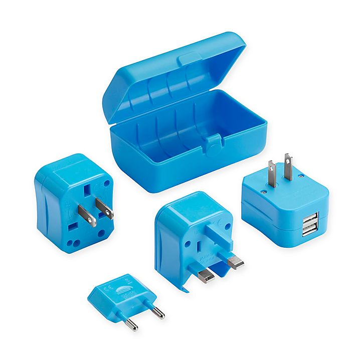 Alternate image 1 for Lewis N. Clark® Adapter Plug Kit with Dual USB Charger
