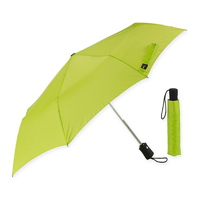 Alternate image 1 for Lewis N. Clark® Compact Travel Umbrella in Green