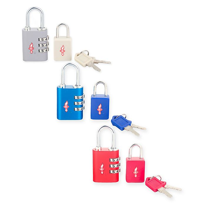 Alternate image 1 for Safe Skies® 2-Piece TSA-Recognized Luggage Lock Set