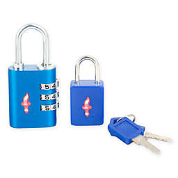 Safe Skies® 2-Piece TSA-Recognized Luggage Lock Set in Blue