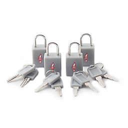 Safe Skies® 4-Pack TSA-Recognized Padlocks in Grey