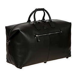 Bric's Varese 22-Inch Leather Cargo Duffle Bag in Black