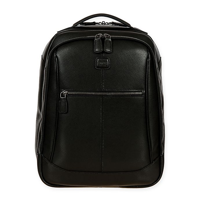 Alternate image 1 for Bric's Varese 12-Inch Leather Director Backpack in Black