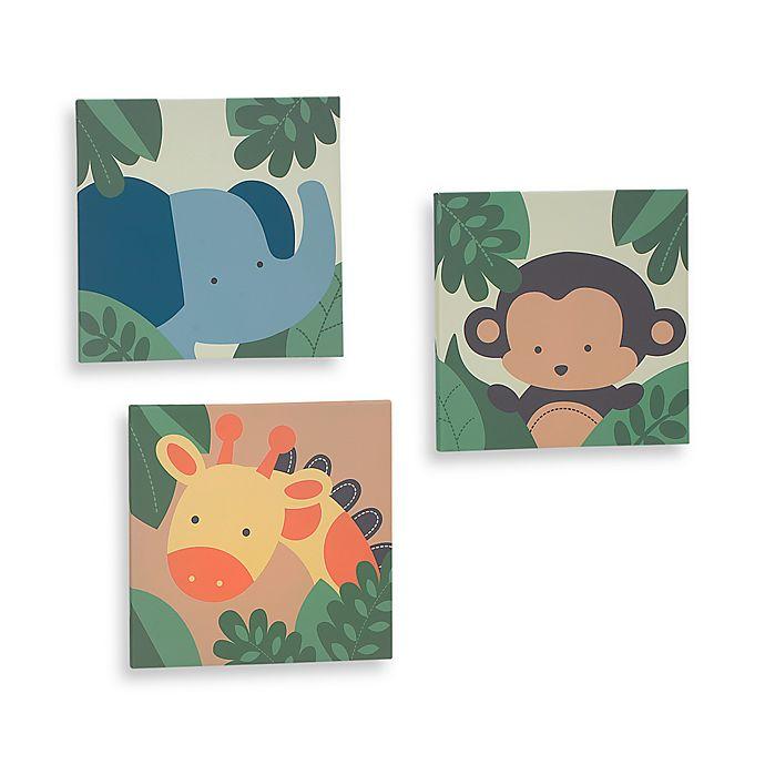 kidsline™ Jungle 1,2,3 3-Piece Canvas Wall Art Set | buybuy BABY