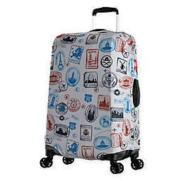 Olympia® USA Spandex Luggage Cover in Stamp Blue