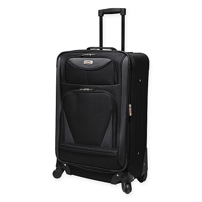 Alternate image 1 for Travelers Club® Sky-View II 24-Inch Expandable Spinner in Black