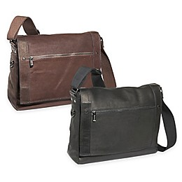 Kenneth Cole Reaction Colombian Leather 15-Inch Flapover Messenger Bag